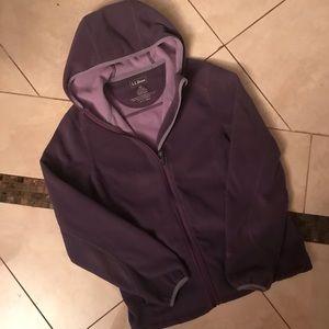 L.L. bean fleece zip up hoodie jacket XS